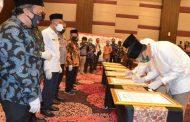 2 Paslon,dan 1 Bakal Paslon Cabup dan Cawabup Sidoarjo Deklarasikan Pilkada sehat dan Jurdil