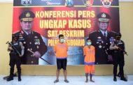 Polresta Sidoarjo Bekuk Dua Kasus Pencabulan Anak di Bawah Umur