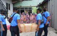 Sambagi Panti Asuhan, Taruna AAL Satlat Jalayudha Beri Bantuan Anak Yatim