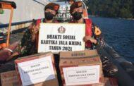 Di Berhala, Taruna AAL Satlat KJK Berikan Bantuan Sosial